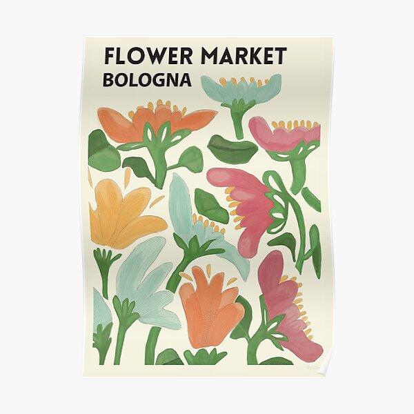 Flower Market - Bologna Poster