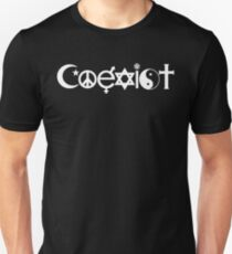 Coexist White Unisex T-Shirt