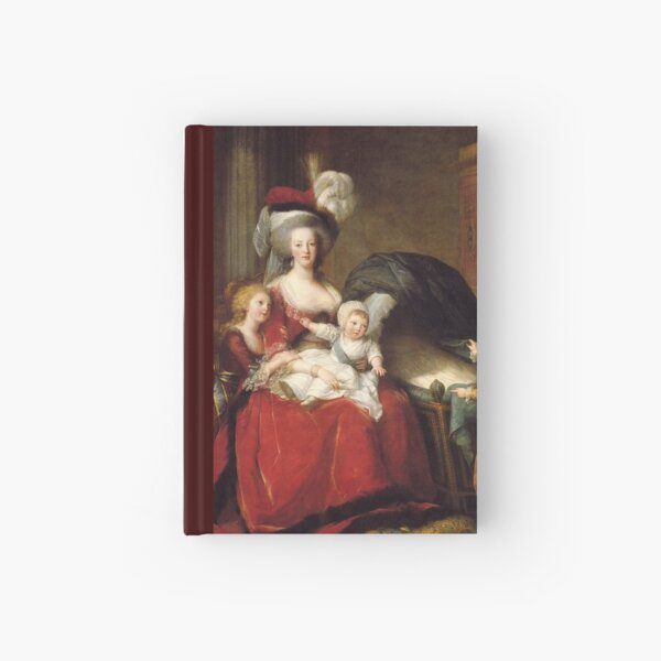 Portrait of Marie Antoinette and her children by Louise Elisabeth Vigee Le Brun Hardcover Journal
