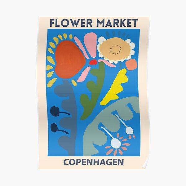 Flower Market - Copenhagen Poster