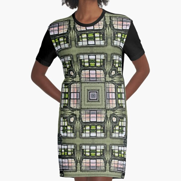 Obscura Square Graphic T-Shirt Dress