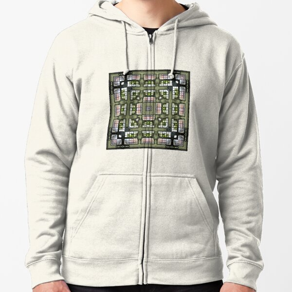 Obscura Square Zipped Hoodie