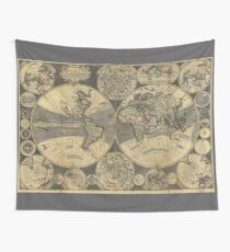 World Map (1702) Wall Tapestry
