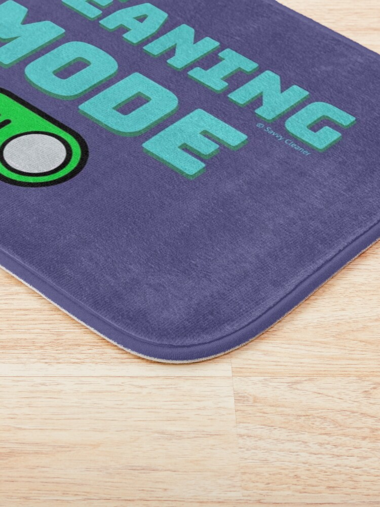 Alternate view of Retro Cleaning Mode Game Button - House Cleaning Humor Bath Mat
