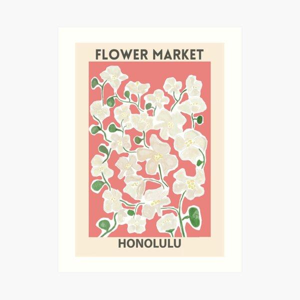Flower Market - Honolulu Art Print