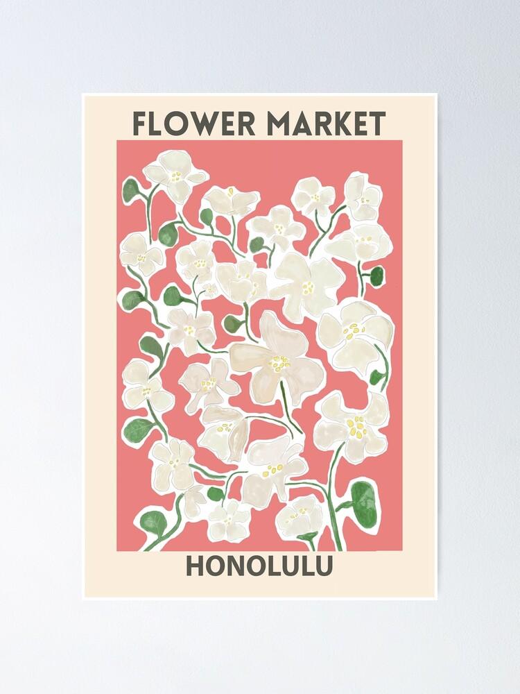 Vista alternativa de Póster Mercado de las flores - Honolulu