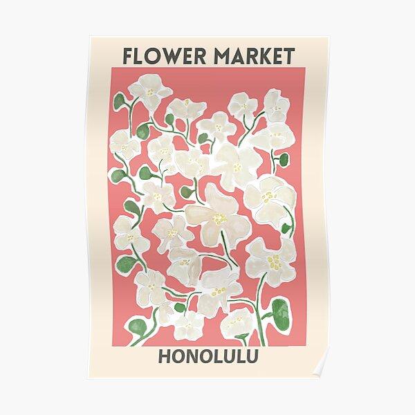 Marché aux fleurs - Honolulu Poster
