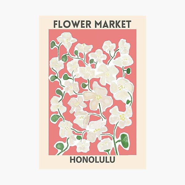 Flower Market - Honolulu Photographic Print
