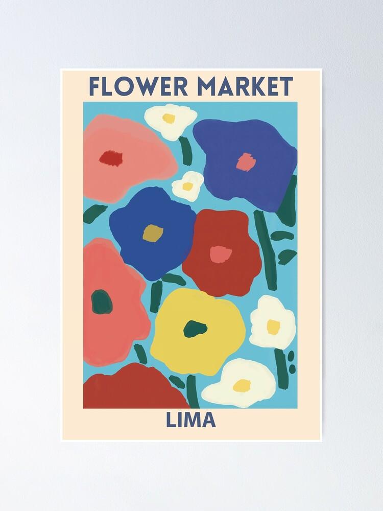 Vista alternativa de Póster Mercado de las Flores - Lima