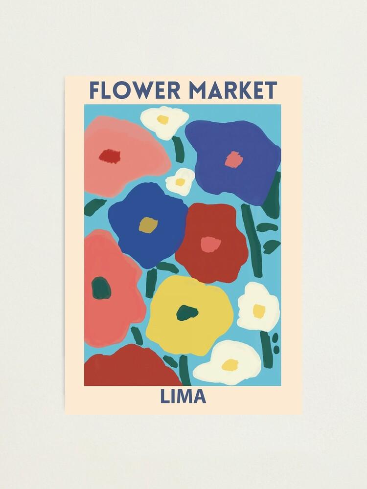 Alternate view of Flower Market - Lima Photographic Print