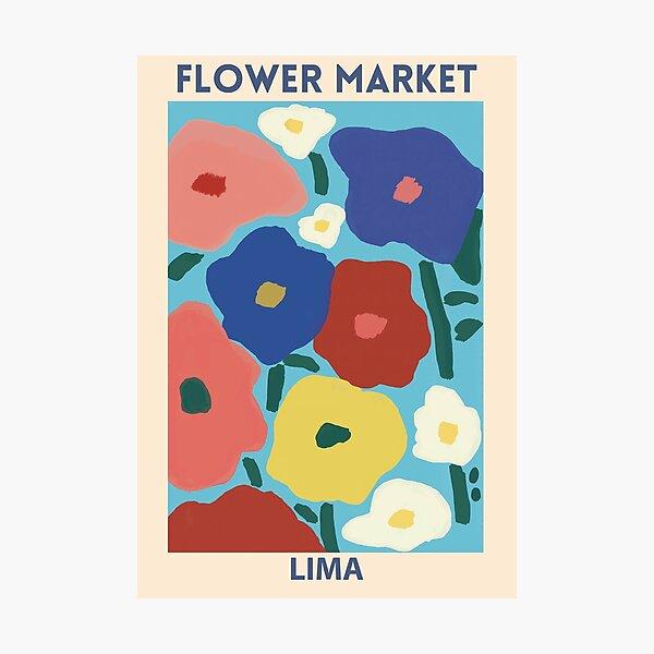 Flower Market - Lima Photographic Print