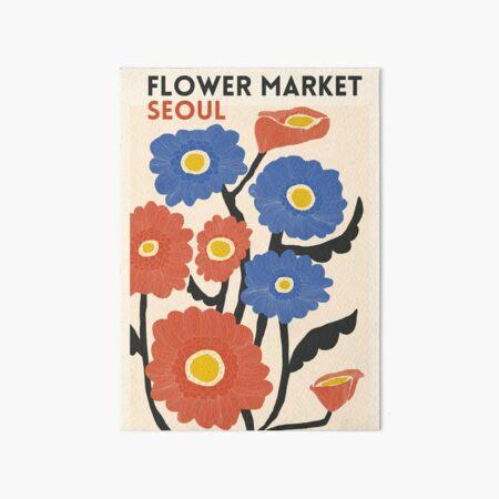 Flower Market - Seouls Art Board Print