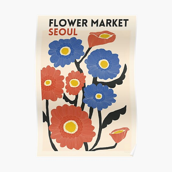 Flower Market - Seouls Poster