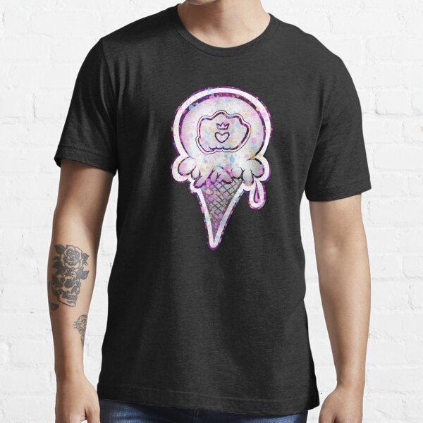 Bausfist Ice Cream Cone (b/w splashed) Essential T-Shirt