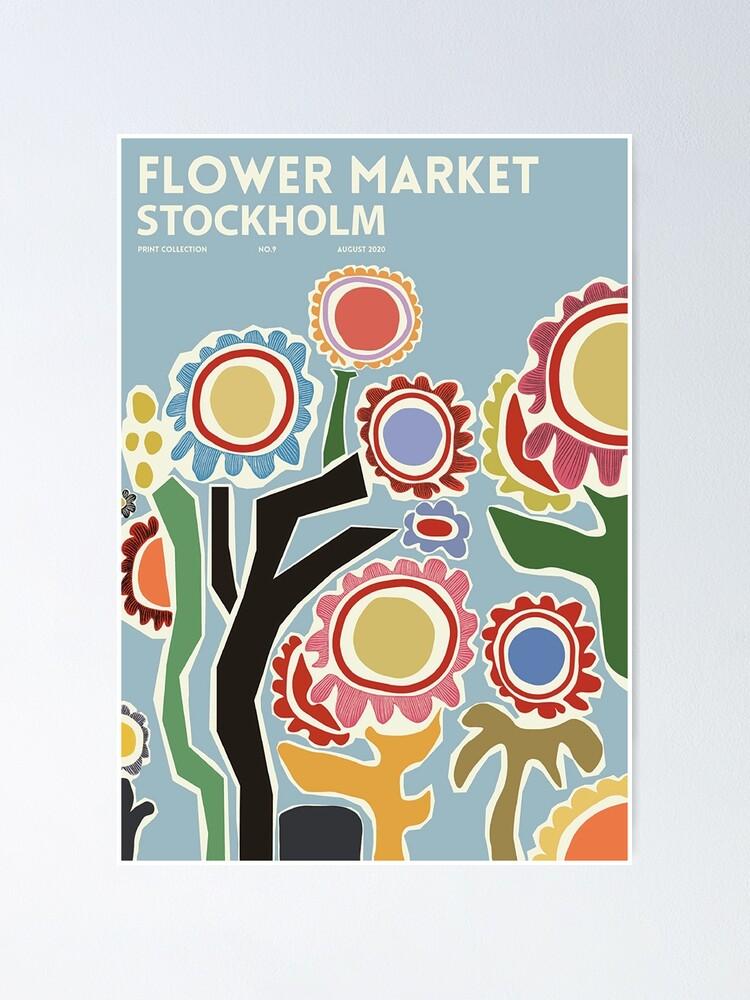 Vista alternativa de Póster Mercado de las flores - Estocolmo