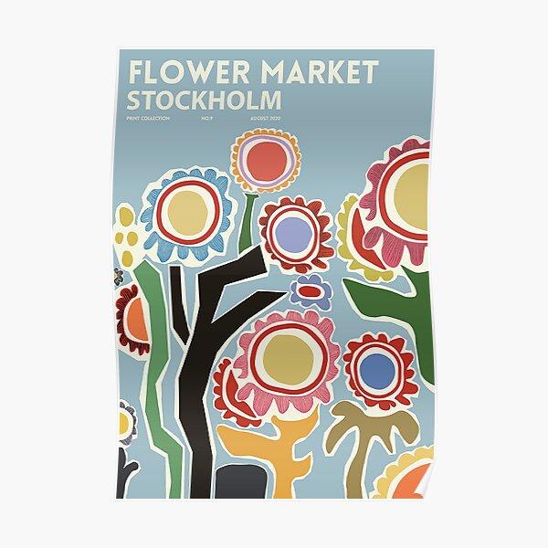 Flower Market - Stockholm Poster