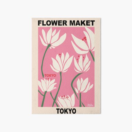 Flower Market - Tokyo Pink Art Board Print
