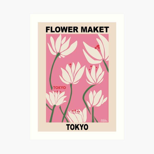 Flower Market - Tokyo Pink Art Print