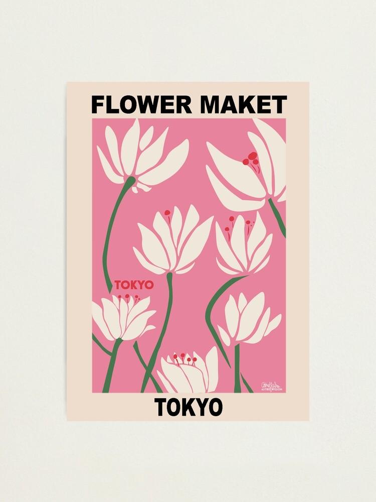 Alternate view of Flower Market - Tokyo Pink Photographic Print