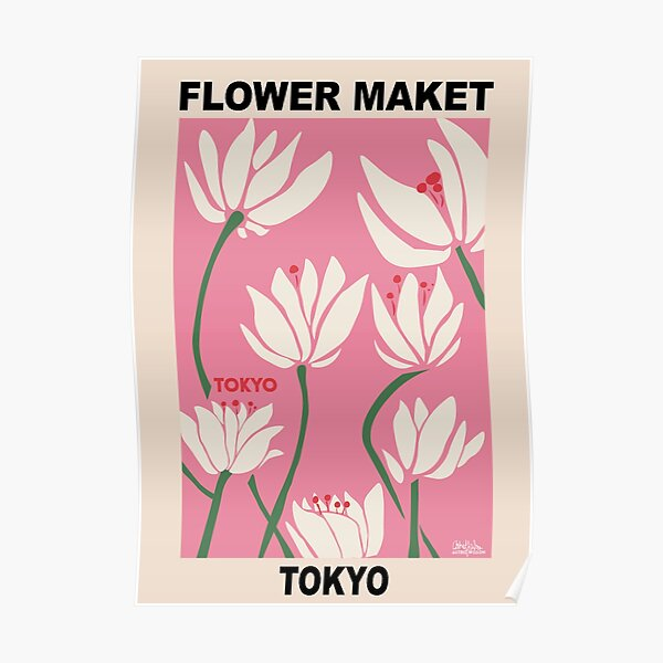 Blumenmarkt - Tokyo Pink Poster