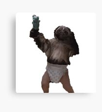 Puppy-Monkey-Baby Canvas Print