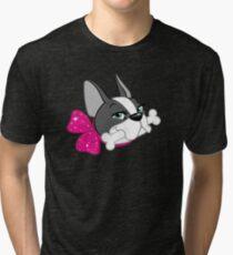 "French Bulldog ""Cherry"" Headshot Tri-blend T-Shirt"