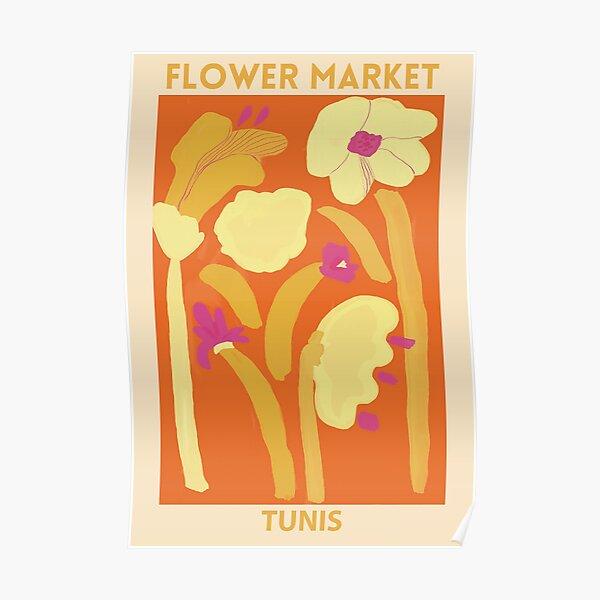 Flower Market -Tunis Poster