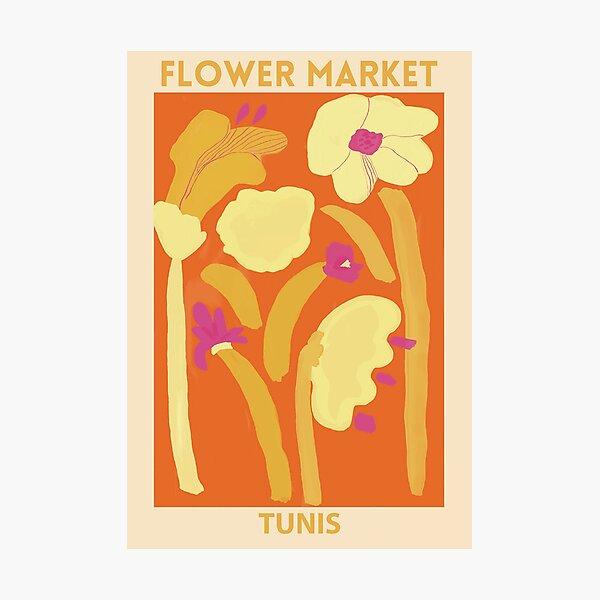 Flower Market -Tunis Photographic Print