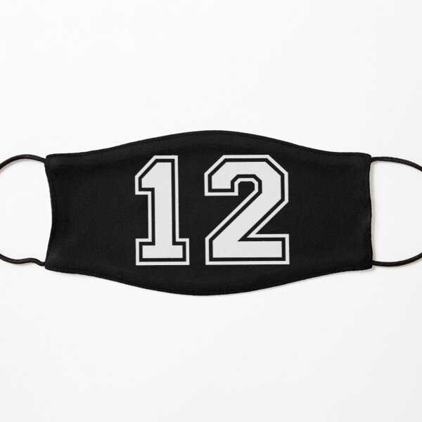 Number 12 Twelve Kids Mask