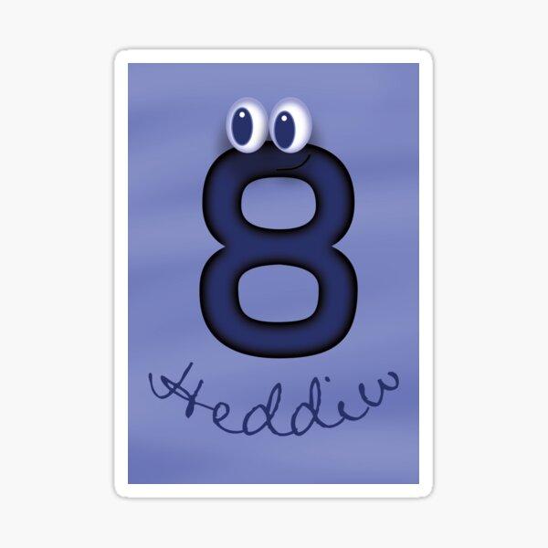 8 heddiw cerdyn pen-blwydd hapus Sticker