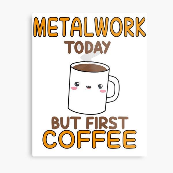 funny metalwork  humor Metal Print