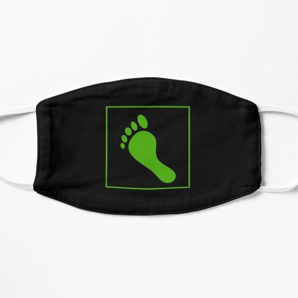 Grüner Fußabdruck Flache Maske