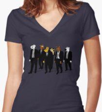 RESERVOIR HOUNDS Women's Fitted V-Neck T-Shirt