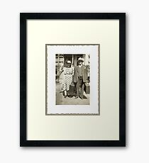 """""""My Great Grandparents, The Halls""""... prints and products Framed Print"""