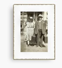 """""""My Great Grandparents, The Halls""""... prints and products Canvas Print"""