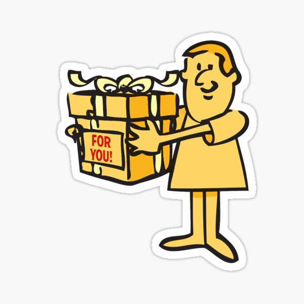 Giving a Gift Sticker