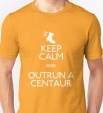 Keep Calm and Outrun a Centaur Unisex T-Shirt
