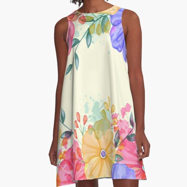 Spring flower garden A-Line Dress