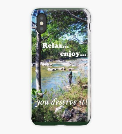 Gone Fishing Card iPhone Case