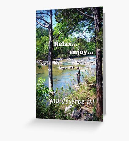 Gone Fishing Card Greeting Card
