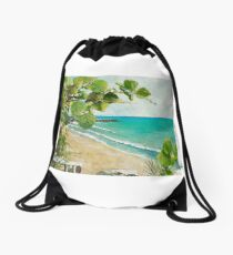 View of South Jetty Drawstring Bag