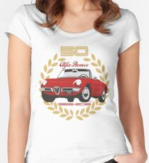 Alfa Romeo Spider 50 years Women's Fitted Scoop T-Shirt