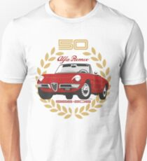 Alfa Romeo Spider 50 years Unisex T-Shirt
