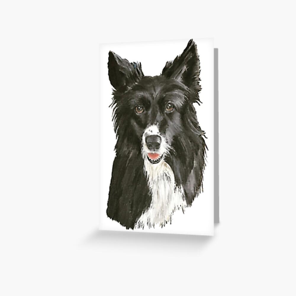 Doggy Devotion - Blank Greeting Card Greeting Card
