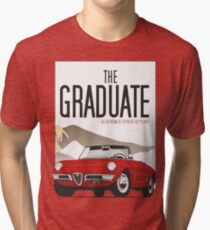 Alfa Romeo Duetto from the Graduate Tri-blend T-Shirt