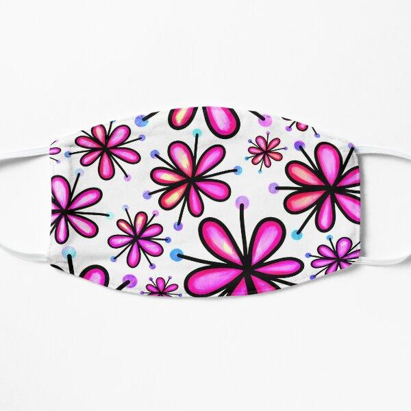 Daisy floral pattern Flat Mask