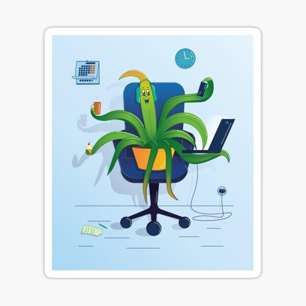 plant in homeoffice Sticker