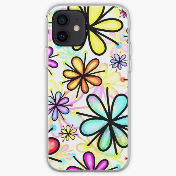 Daisy Floral Pattern iPhone Soft Case
