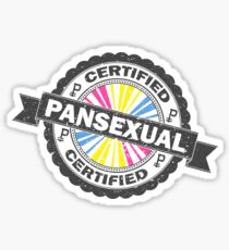 Certified Pansexual Stamp Sticker