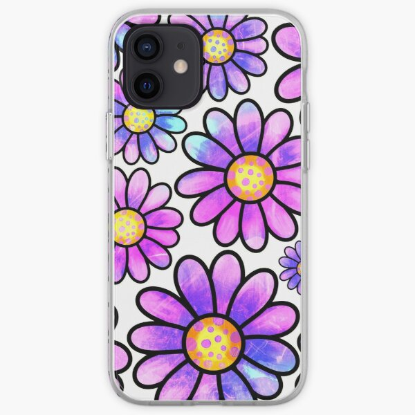 Daisy Doodles Pattern iPhone Soft Case
